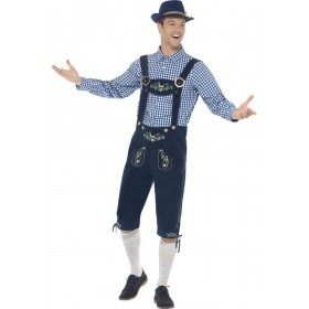 Mens Traditional Deluxe Rutger Bavarian Fancy Dress Costume