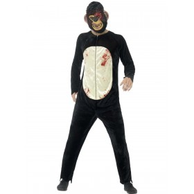 Deluxe Zombie Chimp Costume Fancy Dress