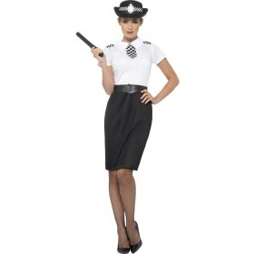 Ladies British Police Officer Fancy Dress Costume