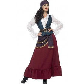 Ladies Deluxe Pirate Buccaneer Beauty Fancy Dress Costume