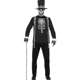 Mens Black VooDoo Witch Doctor Halloween Fancy Dress Costume
