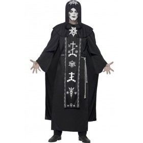 Adults Black Dark Arts Ritual Halloween Fancy Dress Costume