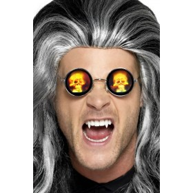 Adults Holographic Skull Glasses Halloween Accessory