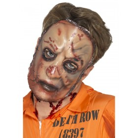 Zombie Flesh Mask Fancy Dress Accessory
