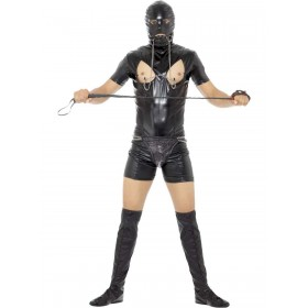 Bondage Gimp Costume with Bodysuit Fancy Dress