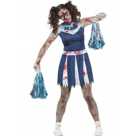 Zombie Cheerleader Costume Fancy Dress