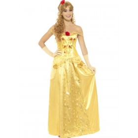 Golden Princess Costume Fancy Dress