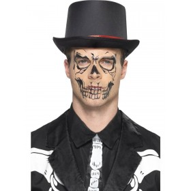 Skull Face Tattoo Transfer Fancy Dress Accessory