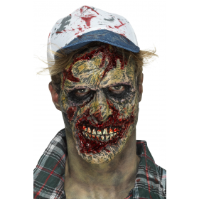 Foam Latex Zombie Face Prosthetic Fancy Dress Accessory