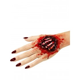 Latex Exposed Hand Bones Prosthetic Fancy Dress Accessory