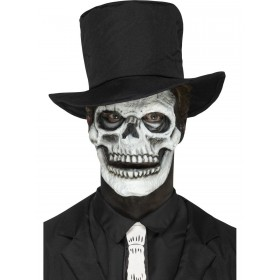 Foam Latex Skeleton Face Prosthetic Fancy Dress Accessory