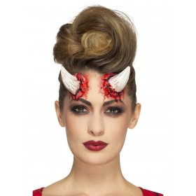 Latex Devil Horn Prosthetics Fancy Dress Accessory