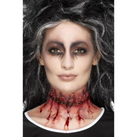 Latex Stitched Neck Scar Prosthetic Fancy Dress Accessory