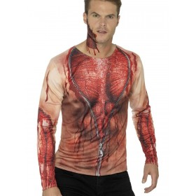 Ripped Skin T-Shirt Fancy Dress Costume