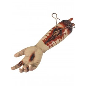 Animated Gory Severed Arm Prop, Pulsating Fancy Dress Accessory