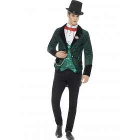 Deluxe Victorian Vampire Costume Fancy Dress