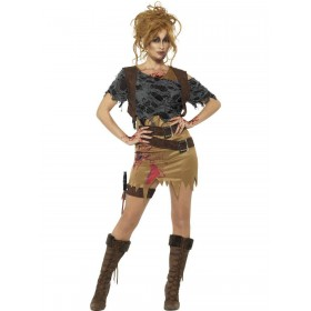 Deluxe Zombie Huntress Costume Fancy Dress