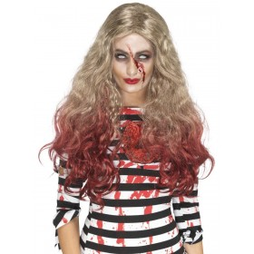 Deluxe Zombie Blood Drip Wig Fancy Dress Accessory