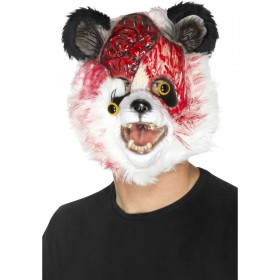 Zombie Panda Mask Fancy Dress Accessory