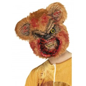 Zombie Teddy Bear Mask Fancy Dress Accessory