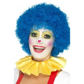 Clown Neck Ruffle Yellow Fancy Dress Accessory
