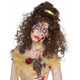 Zombie Golden Princess Wig Fancy Dress Accessory