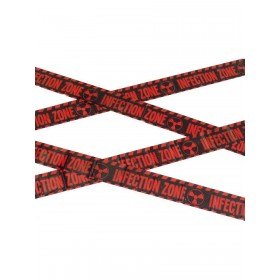 Zombie Infection Zone Caution Tape Fancy Dress Accessory