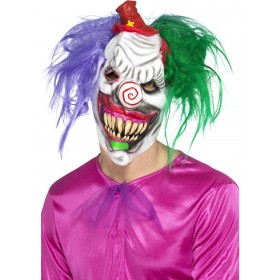 Kolorful Killer Klown Mask Fancy Dress Accessory