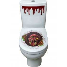 Zombie Portal Toilet Seat Stickers Fancy Dress Accessory