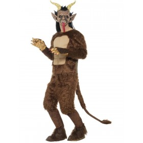 Beast / Krampus Demon Costume, Long Pile Fur Fancy Dress
