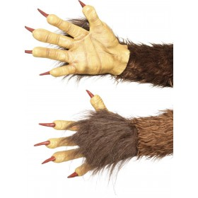 Beast / Krampus Demon Gloves Fancy Dress Accessory