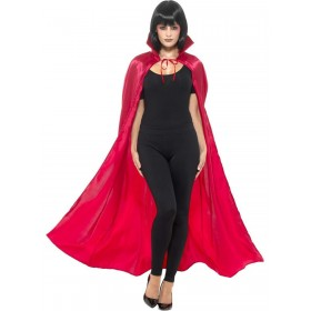 Satin Devil Cape Fancy Dress Costume