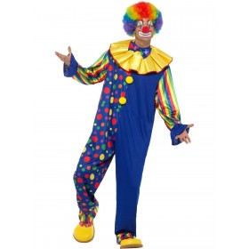 Deluxe Clown Costume Fancy Dress