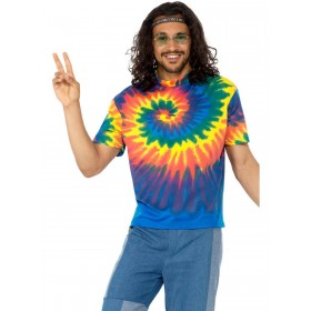 1960s Tie Dye T-Shirt Fancy Dress Costume