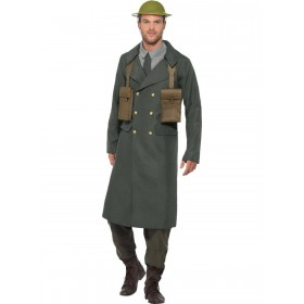 WW2 British Office Costume, with Trench Coat Fancy Dress
