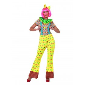 Giggles The Clown Lady Costume Fancy Dress