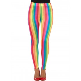Rainbow Clown Leggings Fancy Dress Costume