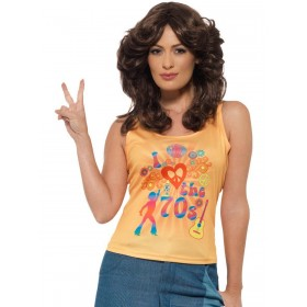 I Love the 70s Top, Ladies Fancy Dress Costume
