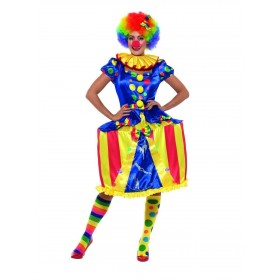 Deluxe Light Up Carousel Clown Costume Fancy Dress