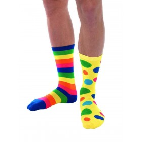 Big Top Clown Socks,  Fancy Dress Accessory