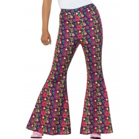 60s Psychedelic CND Flared Trousers, Ladies Fancy Dress Costume