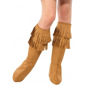 Hippie Fringe Bootcovers Fancy Dress Accessory