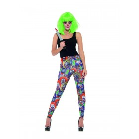 Creepy Clown Leggings Fancy Dress Costume