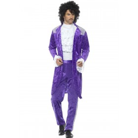 80s Purple Musician Costume Fancy Dress