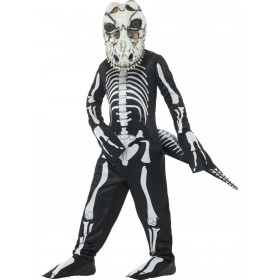 Deluxe T-Rex Skeleton Costume, with Bodysuit Fancy Dress