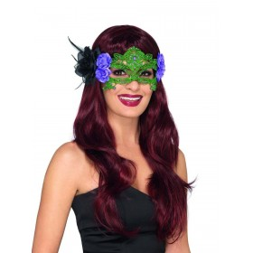 Embroidered Lace Filigree Witch Eyemask Fancy Dress Accessory