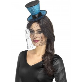 Mini Gothic Top Hat on Headband Fancy Dress Accessory