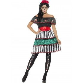 Day of the Dead Senorita Doll Costume Fancy Dress