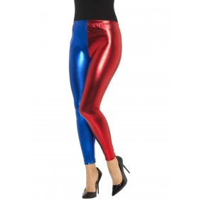 Jester Cosplay Leggings, Metallic Fancy Dress Costume