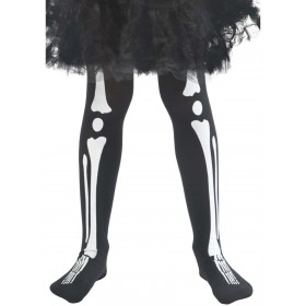 Skeleton Tights, Child Fancy Dress Accessory